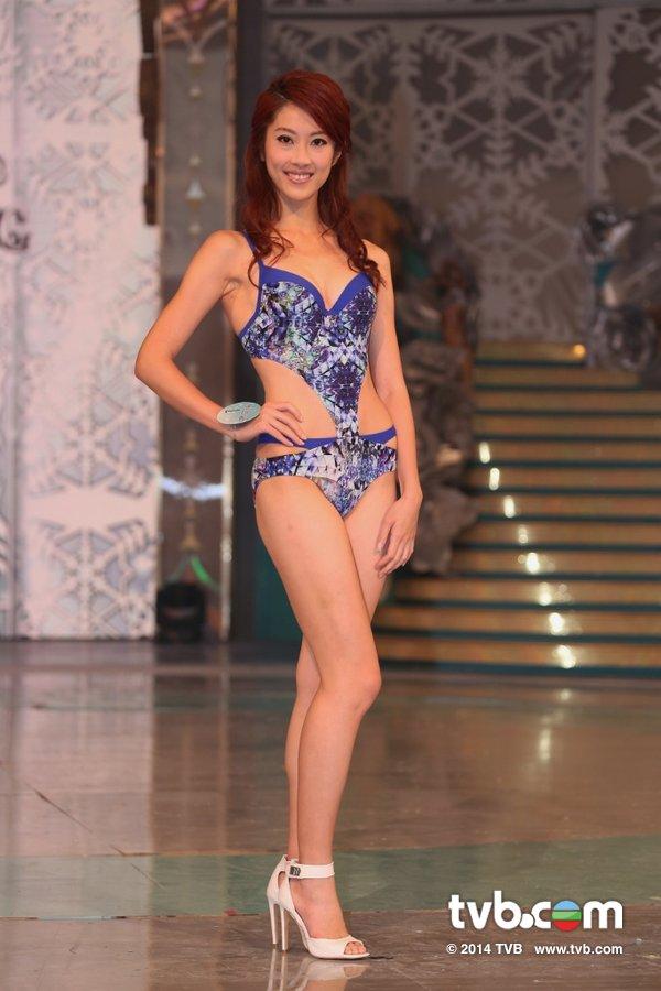 《2014香港小姐競選》謝芷倫抽中試戴后冠