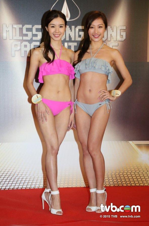 《2015香港小姐競選》首次泳裝亮相