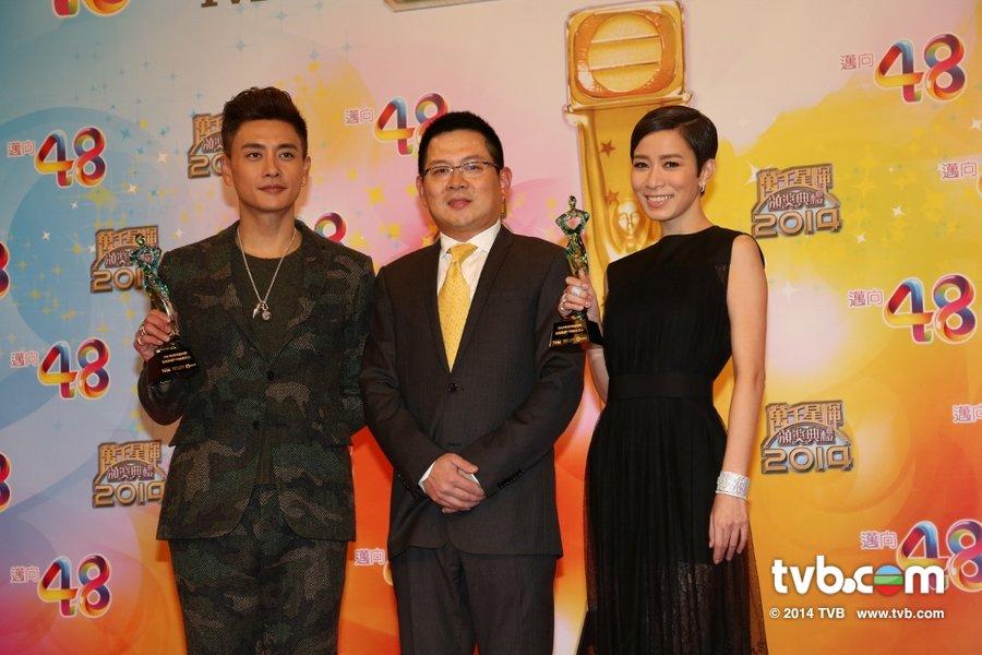 2014年度内地最受欢迎的TVB剧男、女艺人:黄宗泽、佘诗曼